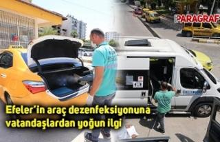 Efeler'in araç dezenfeksiyonuna vatandaşlardan...