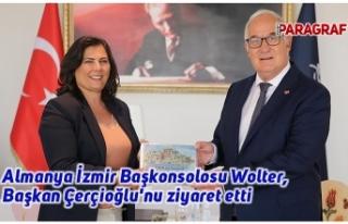 Almanya İzmir Başkonsolosu Wolter, Başkan Çerçioğlu'nu...
