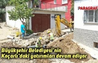 Büyükşehir Belediyesi'nin Koçarlı'daki yatırımları...