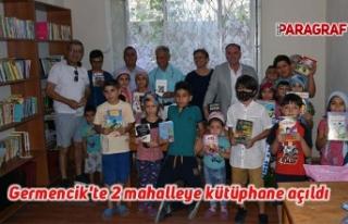 Germencik'te 2 mahalleye kütüphane açıldı