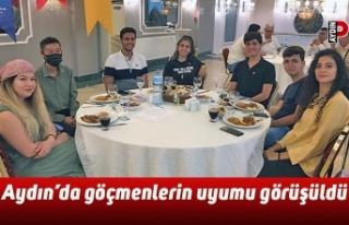 Aydın'da göçmenlerin uyumu görüşüldü