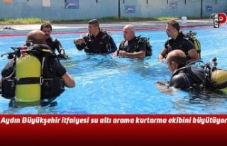 Aydın Büyükşehir itfaiyesi su altı arama kurtarma...