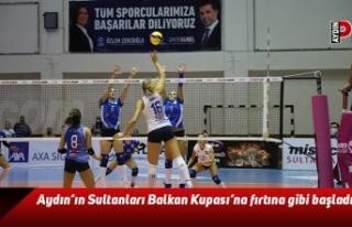Aydın'ın Sultanları Balkan Kupası'na fırtına...