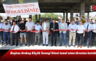 Başkan Atabay Küçük Sanayi Sitesi temel atma törenine...