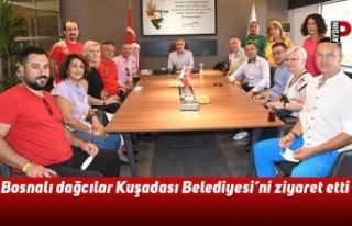 Bosnalı dağcılar Kuşadası Belediyesi'ni ziyaret...