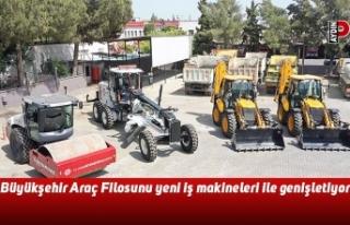 Büyükşehir Araç Filosunu yeni iş makineleri ile...