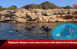 Büyükşehir İtfaiyesi su altı arama kurtarma ekibi...