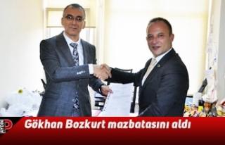 Gökhan Bozkurt mazbatasını aldı
