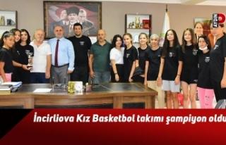 İncirliova Kız Basketbol takımı şampiyon oldu