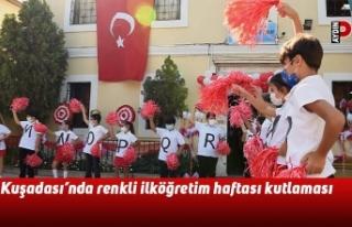 Kuşadası'nda renkli ilköğretim haftası kutlaması
