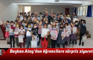 Başkan Atay'dan öğrencilere sürpriz ziyaret