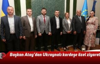 Başkan Atay'dan Ukraynalı kardeşe özel ziyaret