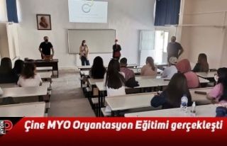 Çine MYO Oryantasyon Eğitimi gerçekleşti