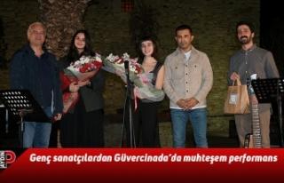 Genç sanatçılardan Güvercinada'da muhteşem...