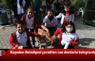 Kuşadası Belediyesi çocukları can dostlarla buluşturdu