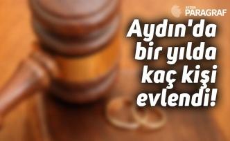 Aydın'da bir yılda kaç kişi evlendi!