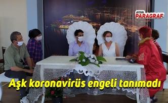 Aşk koronavirüs engeli tanımadı
