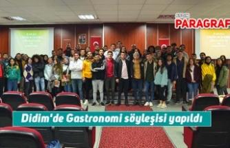 Didim'de Gastronomi söyleşisi yapıldı
