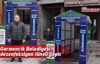 Germencik Belediyesi dezenfeksiyon tüneli yaptı