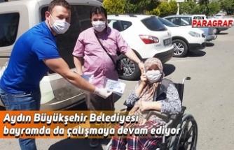 Aydın Büyükşehir Belediyesi bayramda da çalışmaya devam ediyor