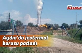 Aydın'da jeotermal borusu patladı