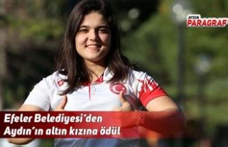 Efeler Belediyesi'den Aydın'ın altın kızına ödül