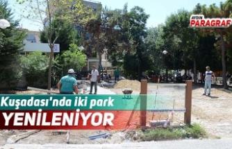 Kuşadası'nda iki park yenileniyor