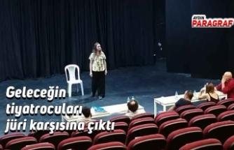 Geleceğin tiyatrocuları jüri karşısına çıktı