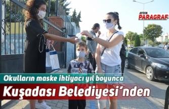 Okulların maske ihtiyacı yıl boyunca Kuşadası Belediyesi'nden