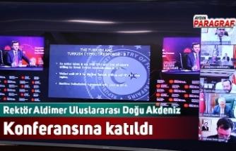 Rektör Aldimer Uluslararası Doğu Akdeniz Konferansına katıldı