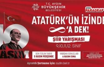 Aydın Büyükşehir Belediyesi'nden Atatürk Konulu Ödüllü Şiir Yarışması