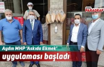 Aydın MHP 'Askıda Ekmek' uygulaması başladı