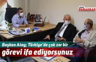 Başkan Atay; Türkiye'de çok zor bir görevi ifa ediyorsunuz