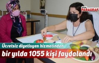 Ücretsiz diyetisyen hizmetinden bir yılda 1055 kişi faydalandı