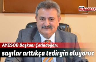 AYESOB Başkanı Çetindoğan; sayılar arttıkça tedirgin oluyoruz
