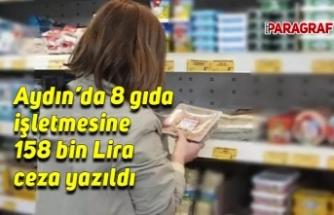 8 gıda işletmesine 158 bin lira ceza yazıldı