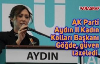 AK Parti Aydın İl Kadın Kolları Başkanı Göğde, güven tazeledi