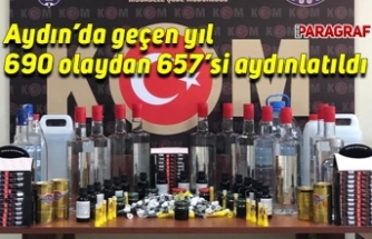 Aydın'da geçen yıl 690 olaydan 657'si aydınlatıldı