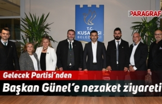 Gelecek Partisi'nden Başkan Günel'e nezaket ziyareti