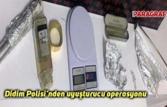 Didim Polisi'nden uyuşturucu operasyonu
