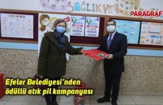 Efeler Belediyesi'nden ödüllü atık pil kampanyası