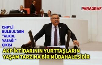 "BÜLBÜL; ""AKP İKTİDARININ YURTTAŞLARIN YAŞAM TARZINA BİR MÜDAHALESİDİR"""
