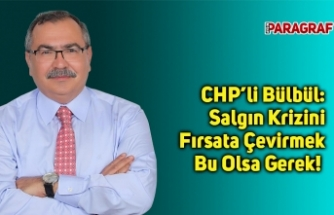 CHP'li Bülbül: Salgın Krizini Fırsata Çevirmek Bu Olsa Gerek!