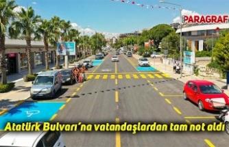 Atatürk Bulvarı'na vatandaşlardan tam not