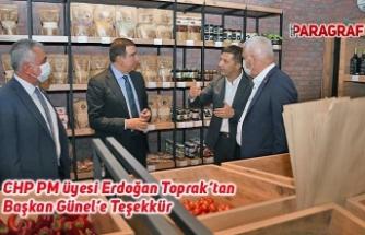 CHP PM üyesi Erdoğan Toprak'tan Başkan Günel'e Teşekkür
