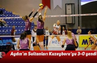 Aydın'ın Sultanları Kuzeyboru'yu 3-0 yendi
