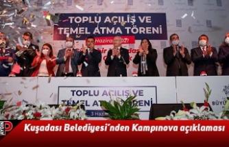 Kuşadası Belediyesi'nden Kampınova açıklaması