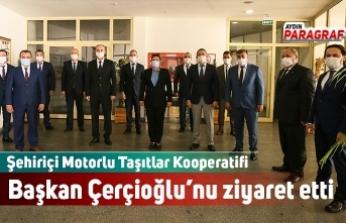 Şehiriçi Motorlu Taşıtlar Kooperatifi Başkan Çerçioğlu'nu ziyaret etti