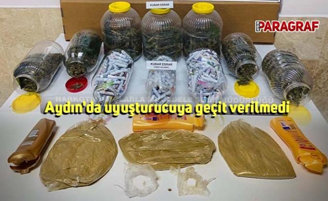 Aydın'da uyuşturucuya geçit verilmedi