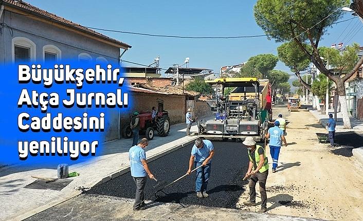 Büyükşehir, Atça Jurnalı Caddesini yeniliyor